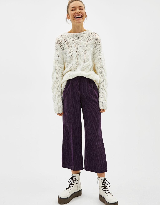 Pantalón Culotte de pana