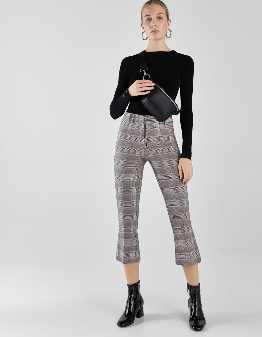 Kick Flare checked trousers