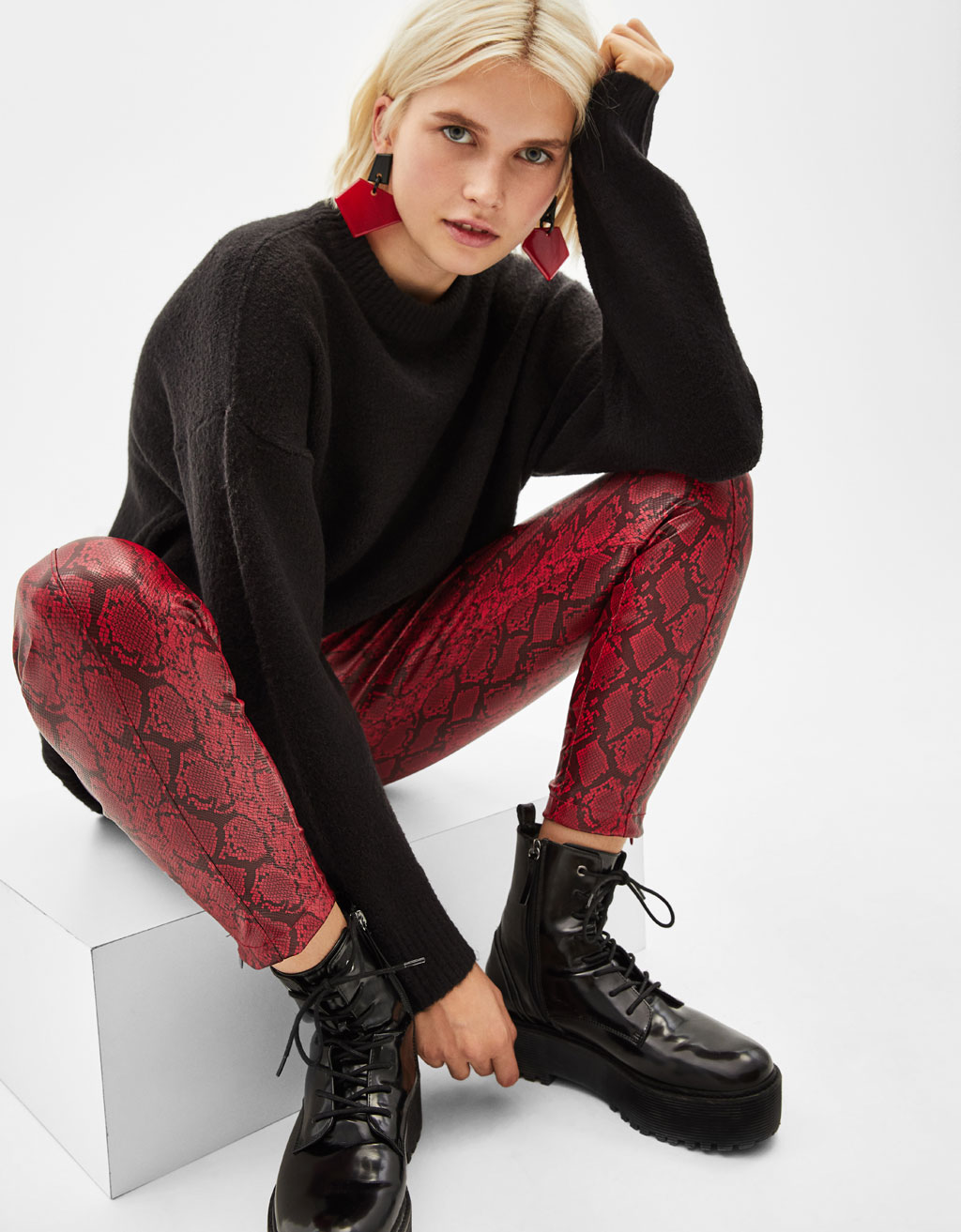 c1ea2094eae6d Snakeskin print leggings - Micro Site Influencer - Bershka Bosnia and ...