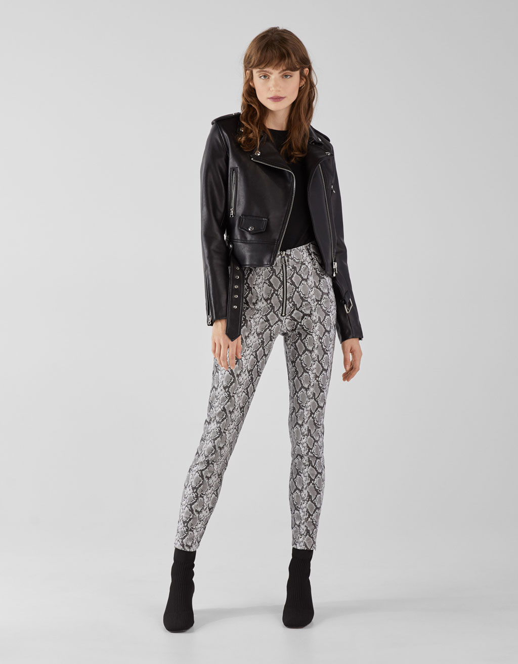 Leggings met slangenprint