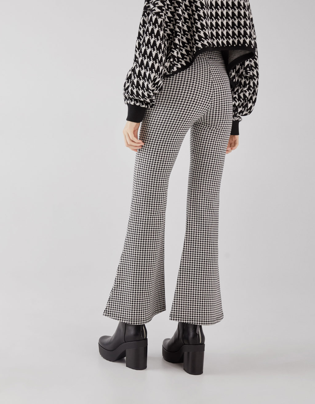 5fb67b80f3e Houndstooth flared trousers Houndstooth flared trousers ...