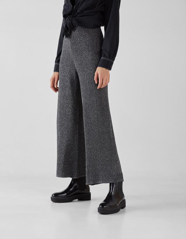Culotte-Hose in Metallic-Optik