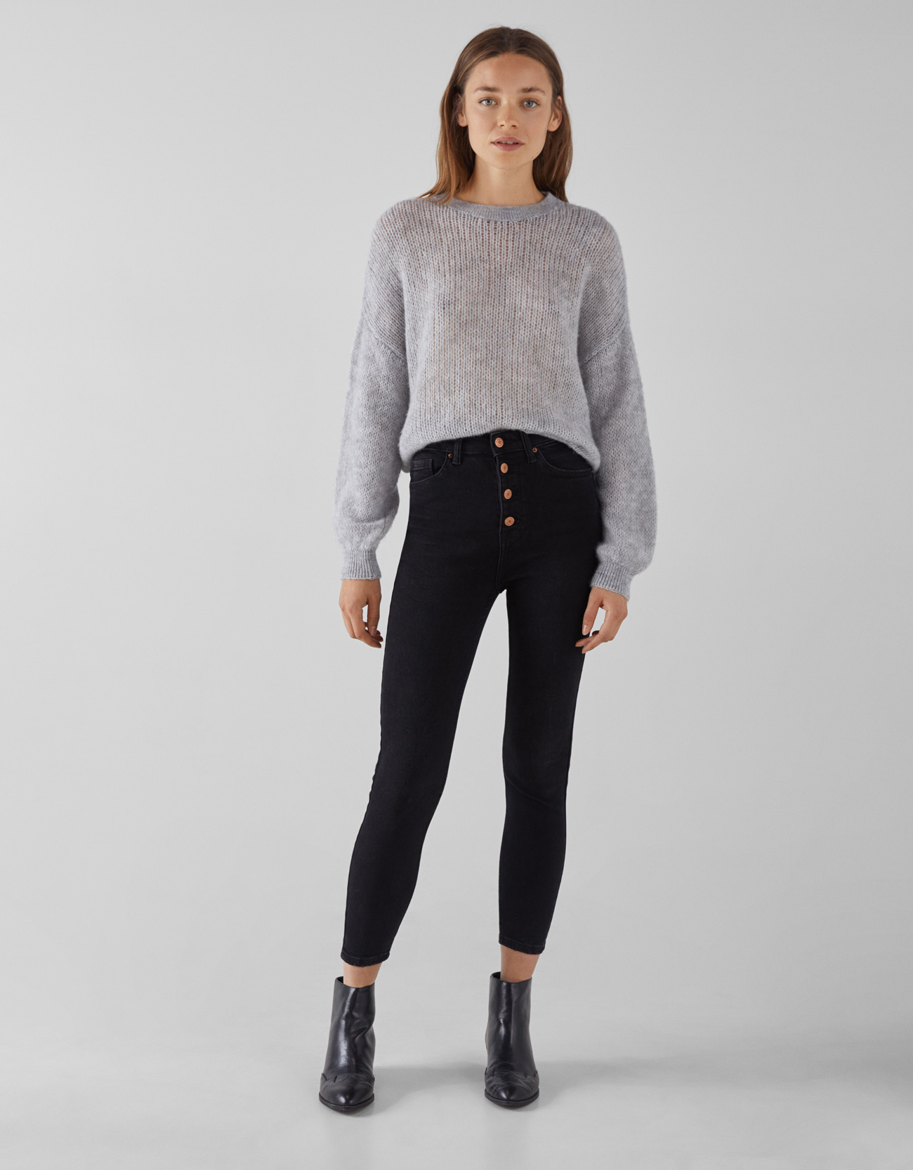04f42d0399e Jeans Skinny High Rise con botones Join Life - Jeans - Bershka ...