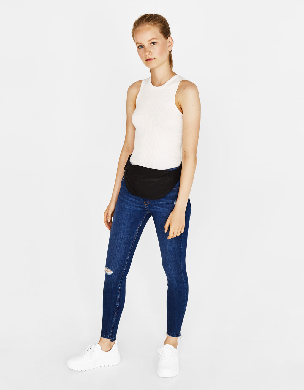 Texans skinny low rise fit