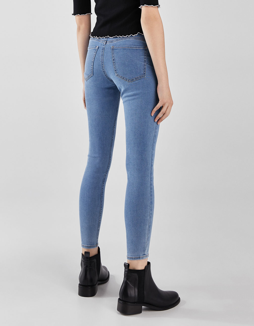 Low waist push-up jeans