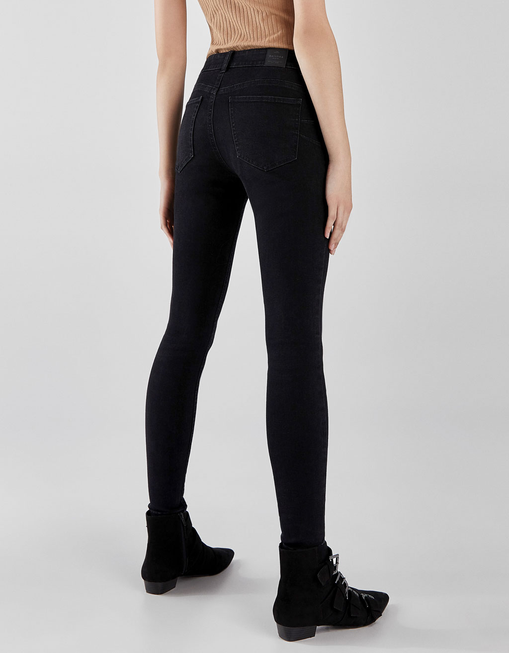 Push-up fit jeans met lage taille