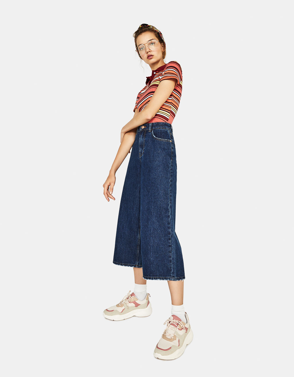 Culotte High Rise farmernadrág