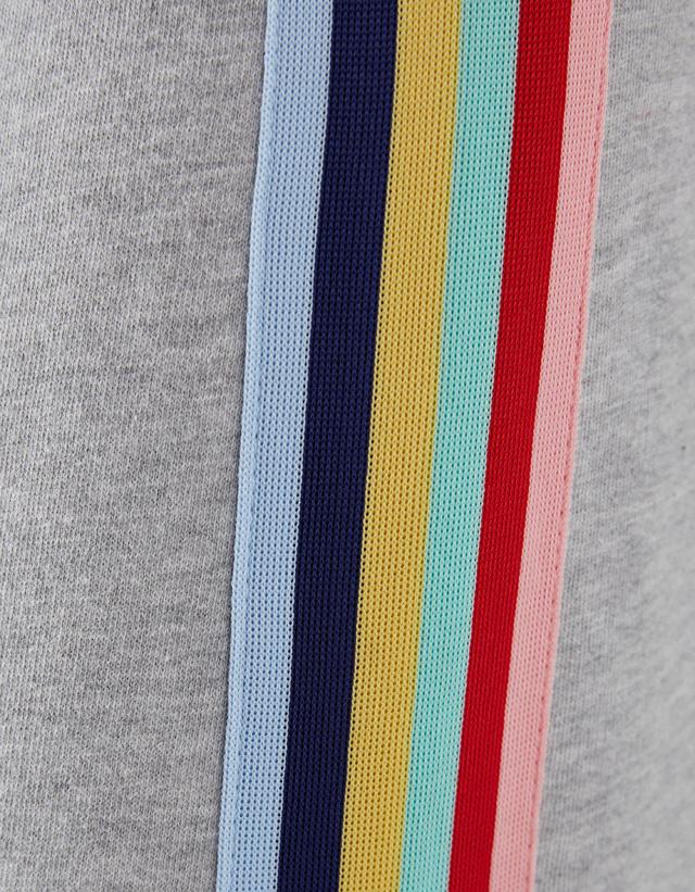 Jogger aus Plüschgewebe mit seitlichen Streifen