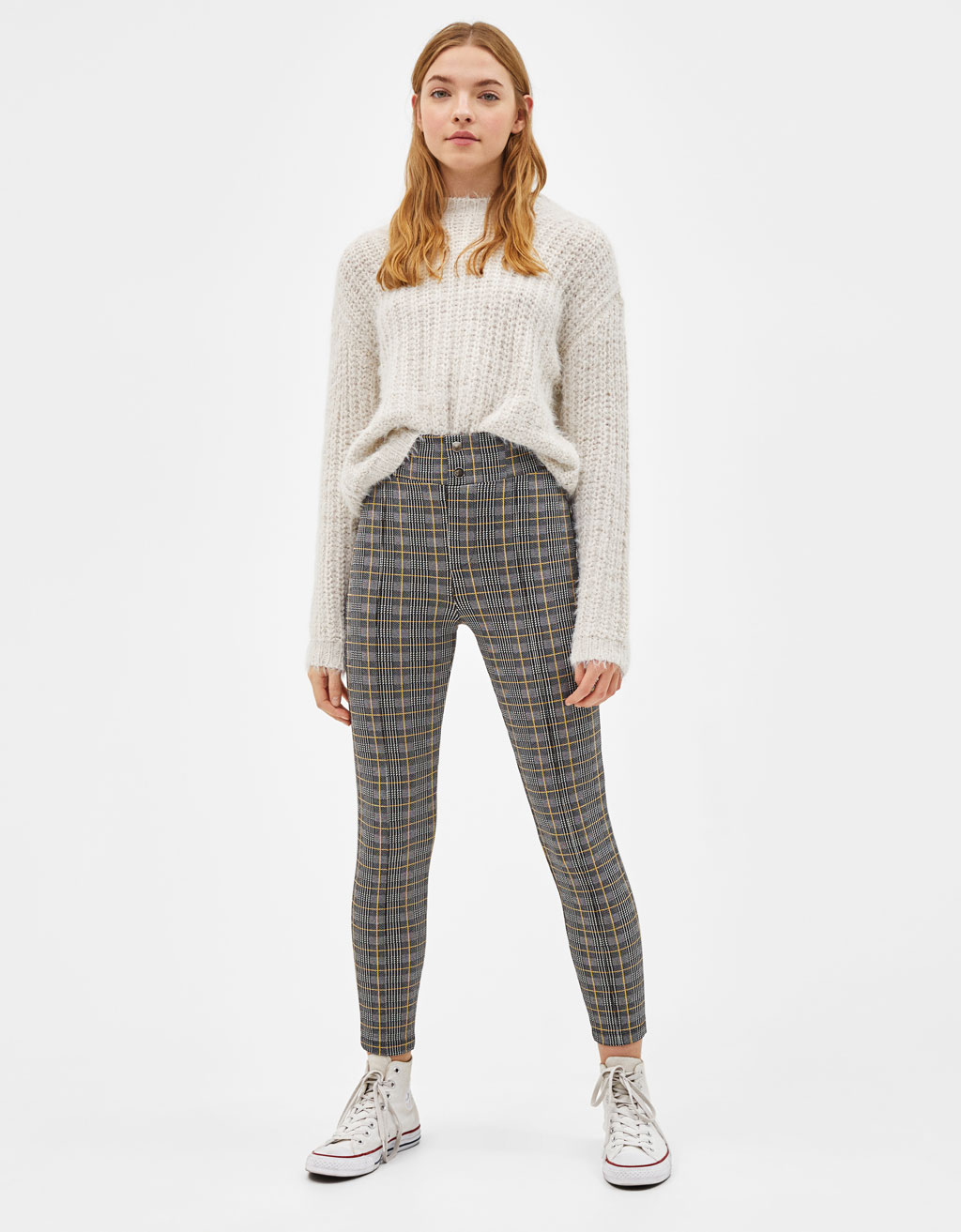 High Rise fitted trousers