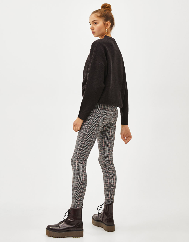 5c35492083df4a High waist leggings - CLOTHING - Bershka Cyprus