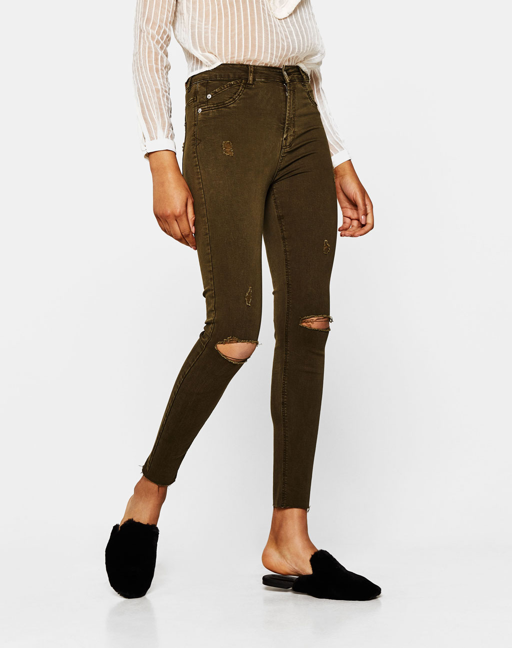 Ripped high waist pants
