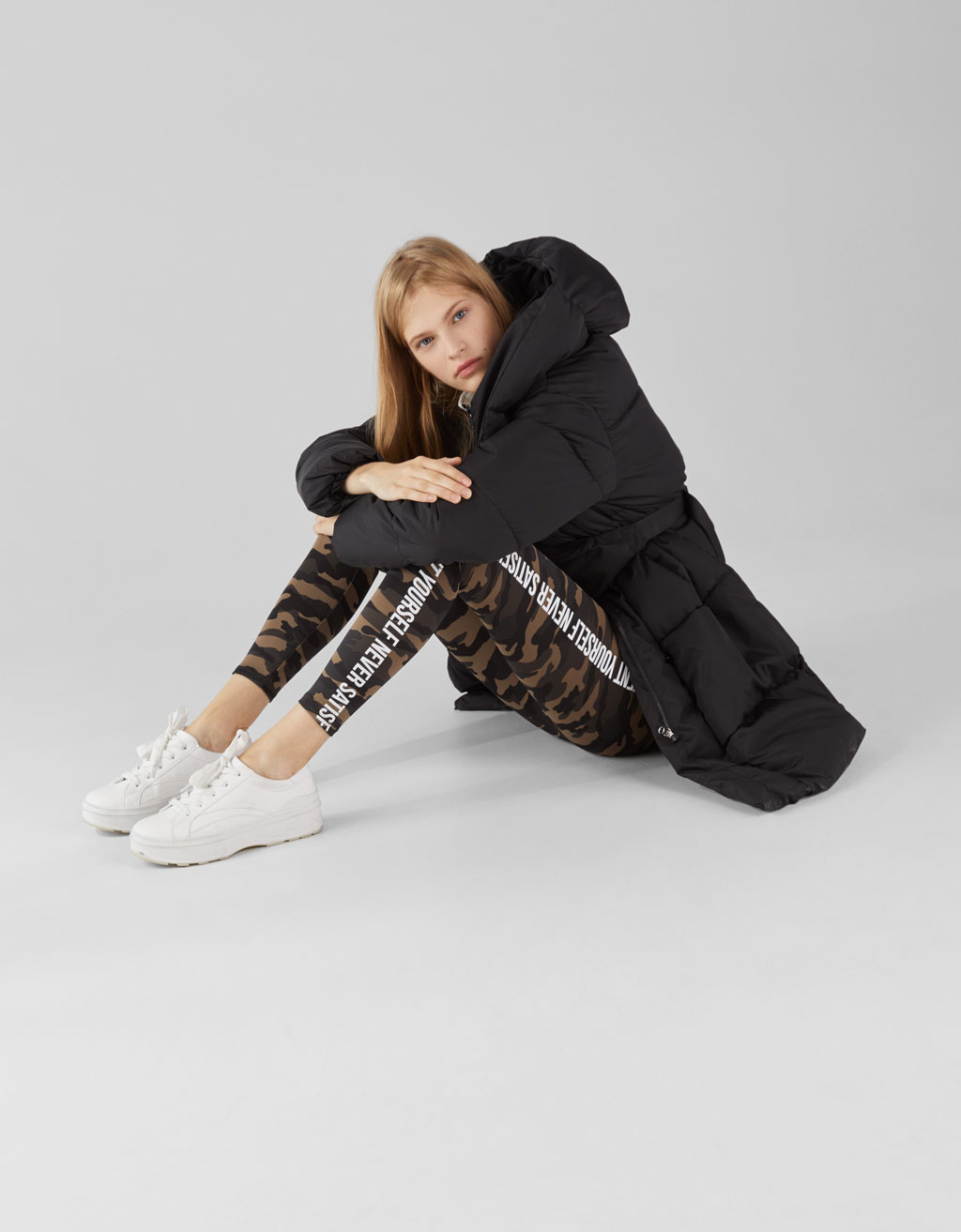 Leggings med text