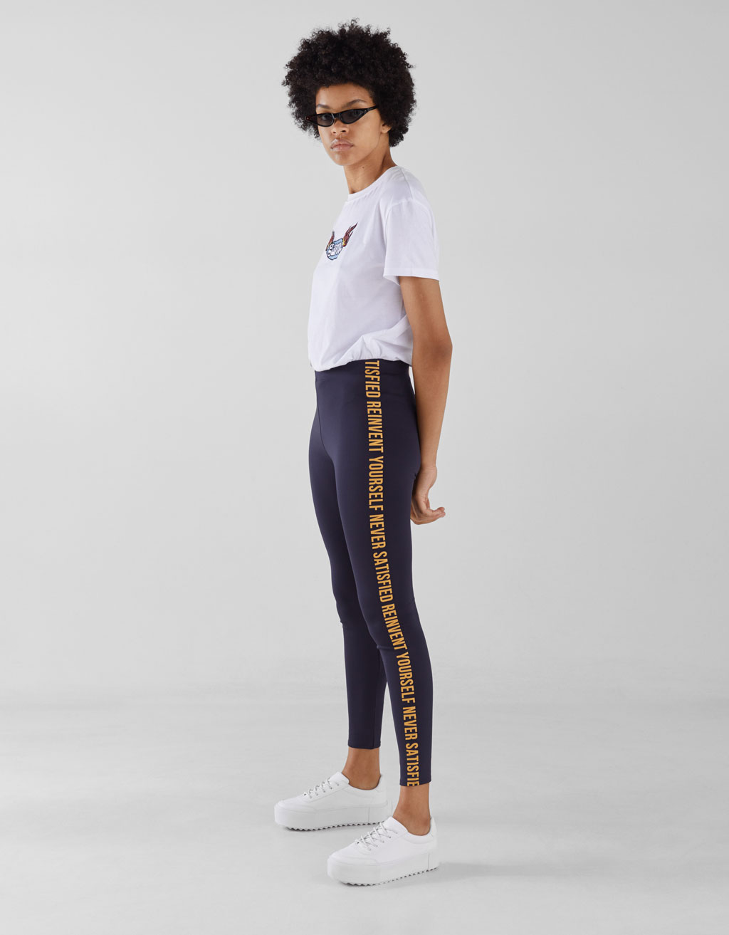 Leggings with slogan