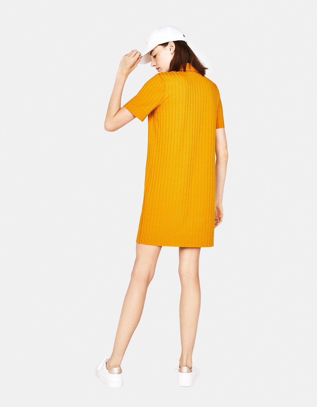 Ribbed polo-style dress