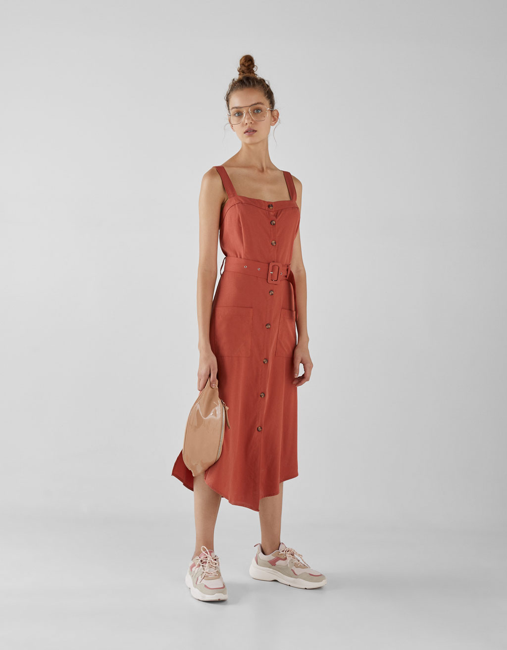 Join Life Tencel® Dress With Belt by Bershka