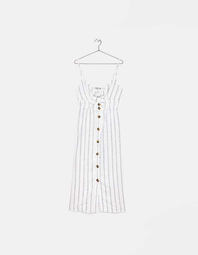 Kleid mit Trägern und vorderem Zierknoten