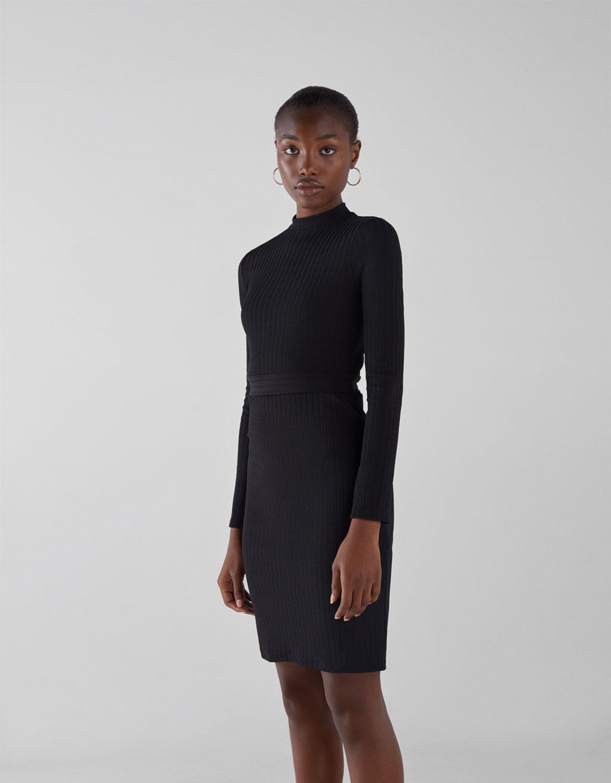 3ca63143f1c4 Fitted dress - Dresses - Bershka Saudi Arabia