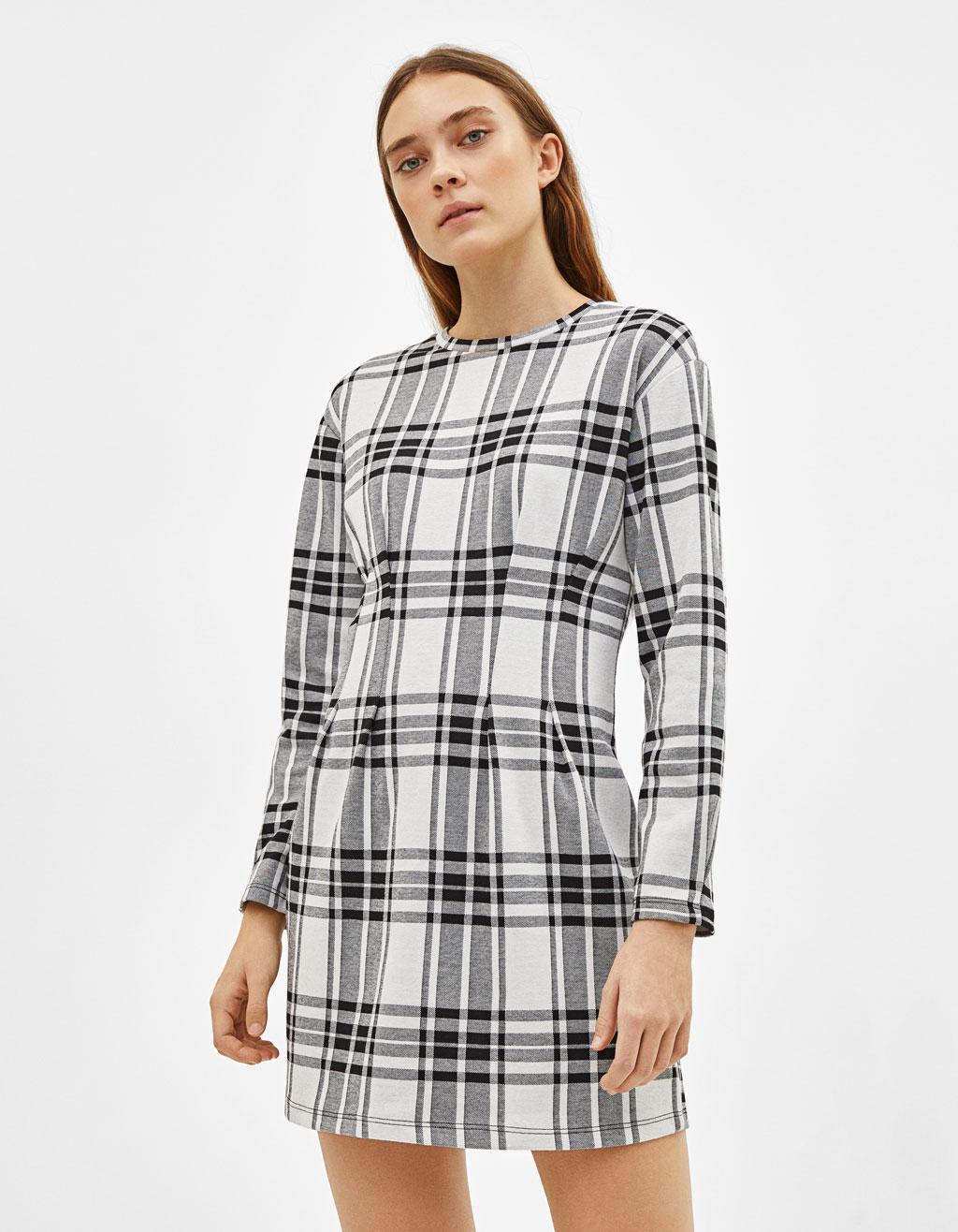 Krótka sukienka z zakładkami