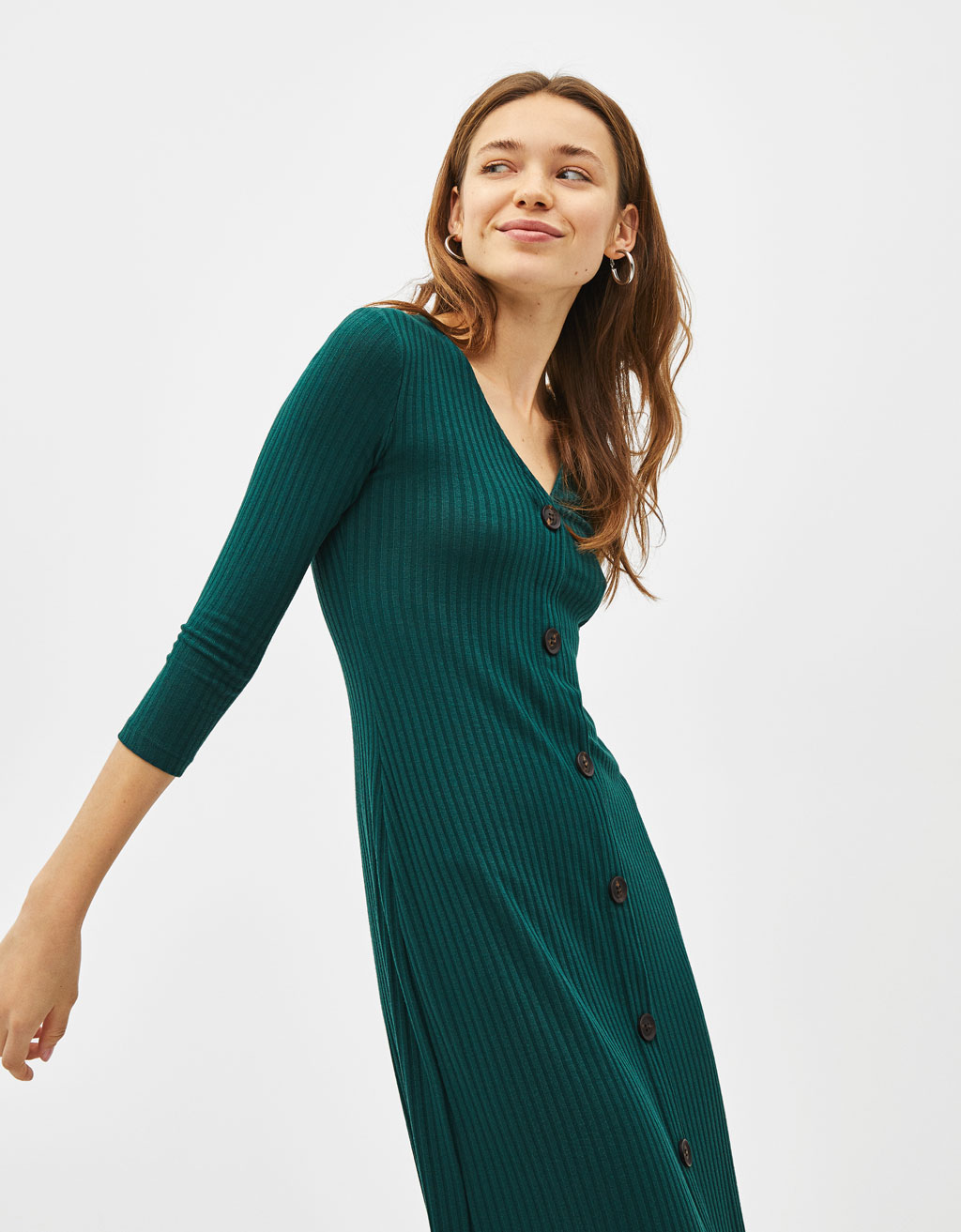 5939272fbb1e Button-up midi dress - Sale Favourites - Bershka Hong Kong SAR ...