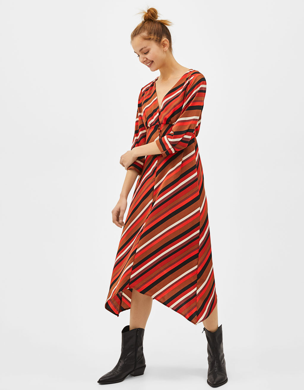 Flowing striped dress