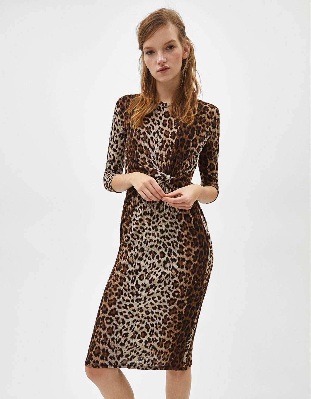 Vestido con estampado animal print