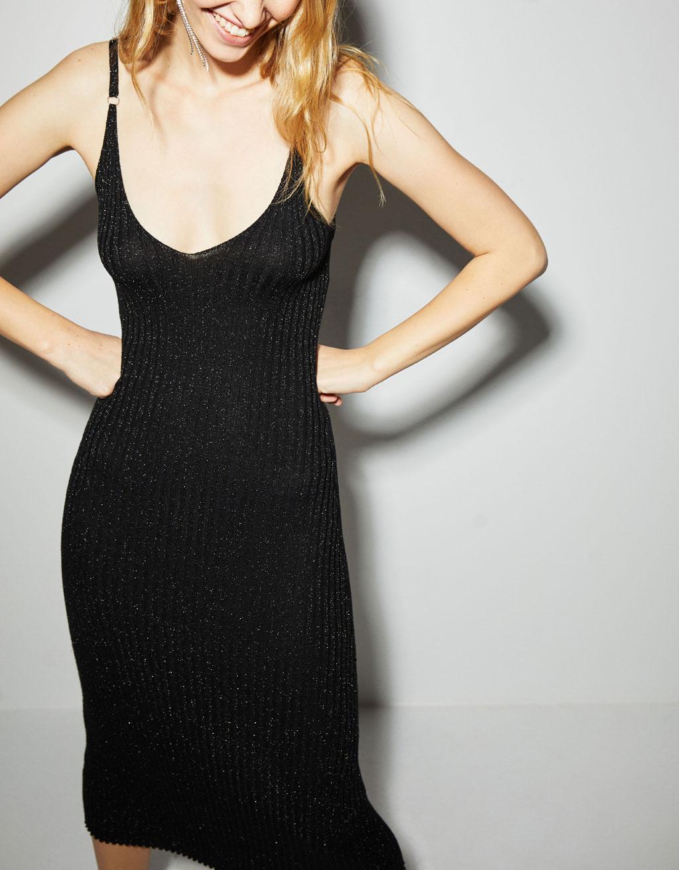 V Ausschnitt Abendkleid Körpernah mit geschnittenes Kleid W2EH9DI