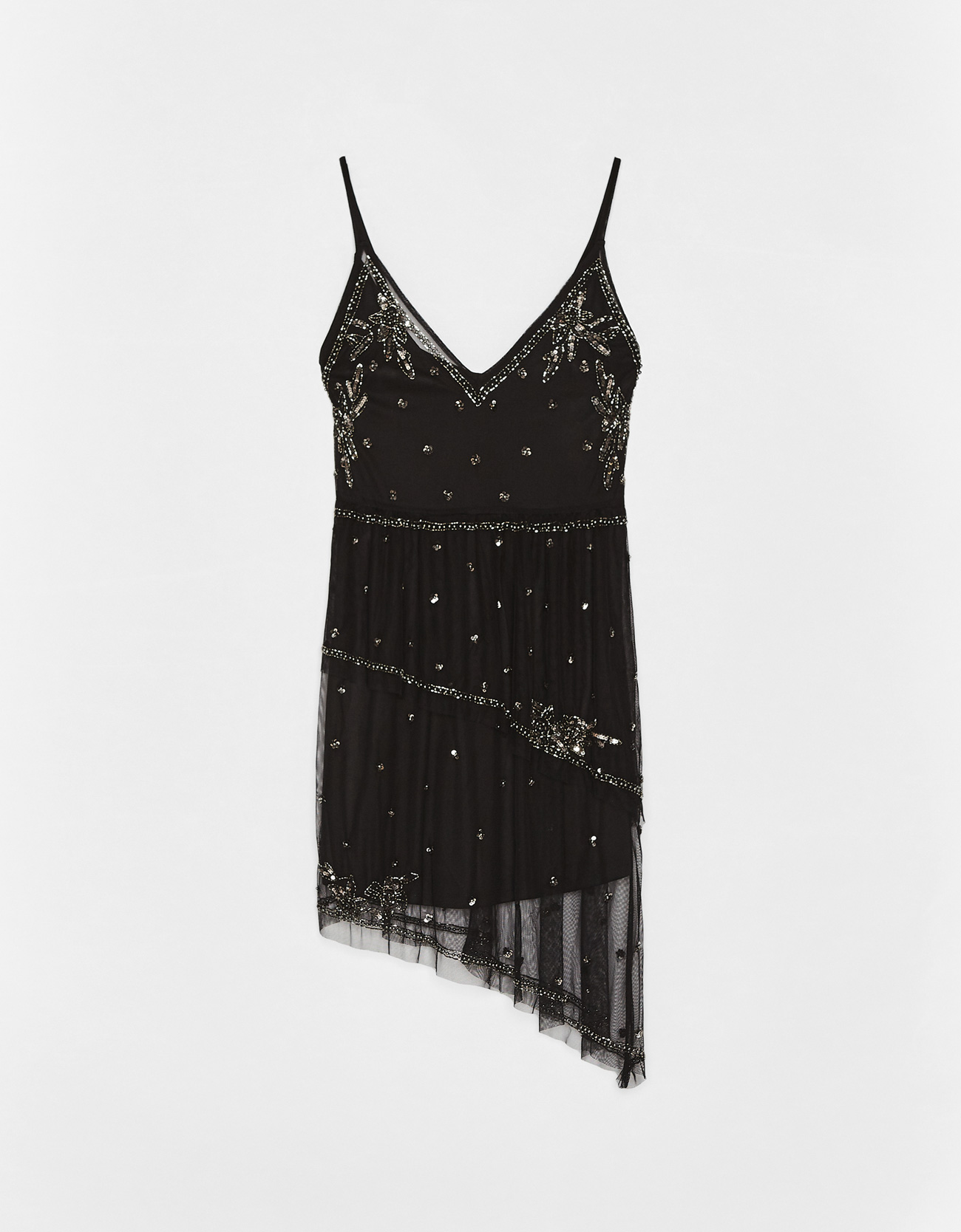 38fd6ec22a Short dress with embroidery and sequins - Party - Bershka Bosnia and ...