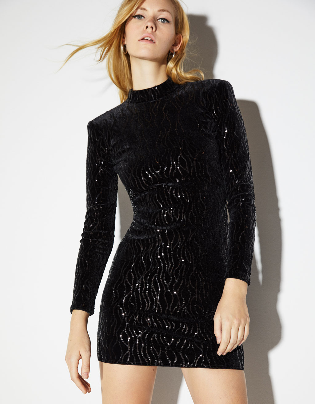 Sequinned velvet dress