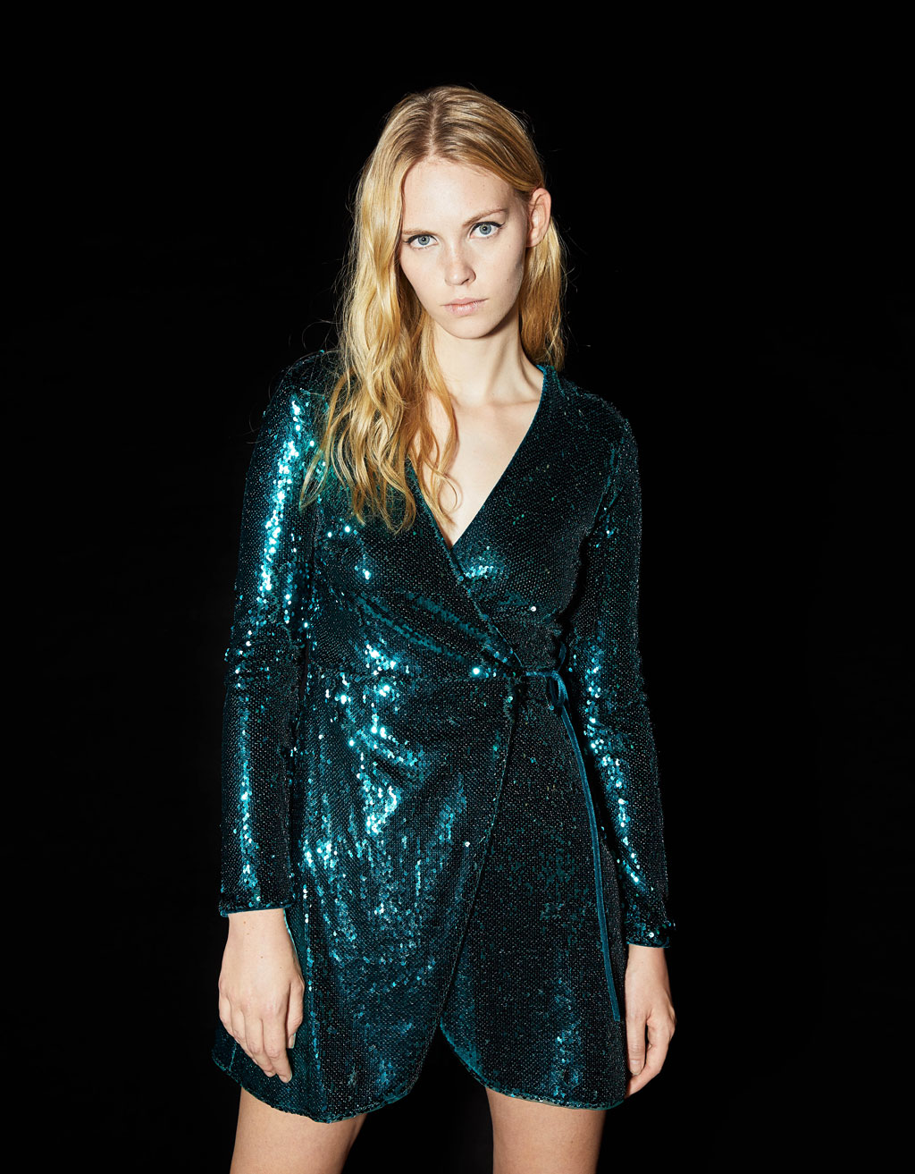 Sequinned crossover dress