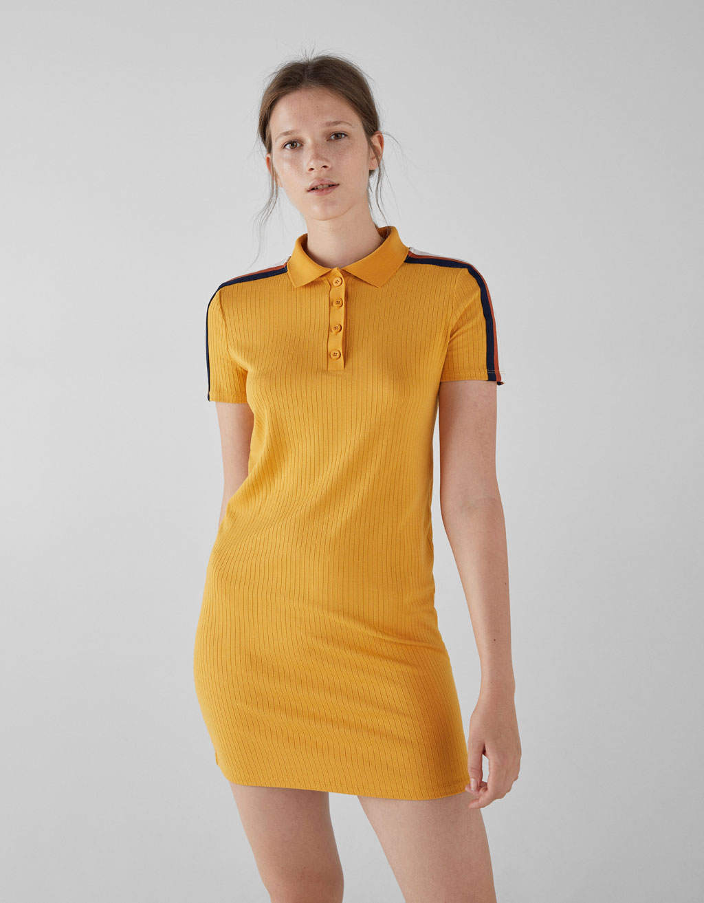 Polo collar dress