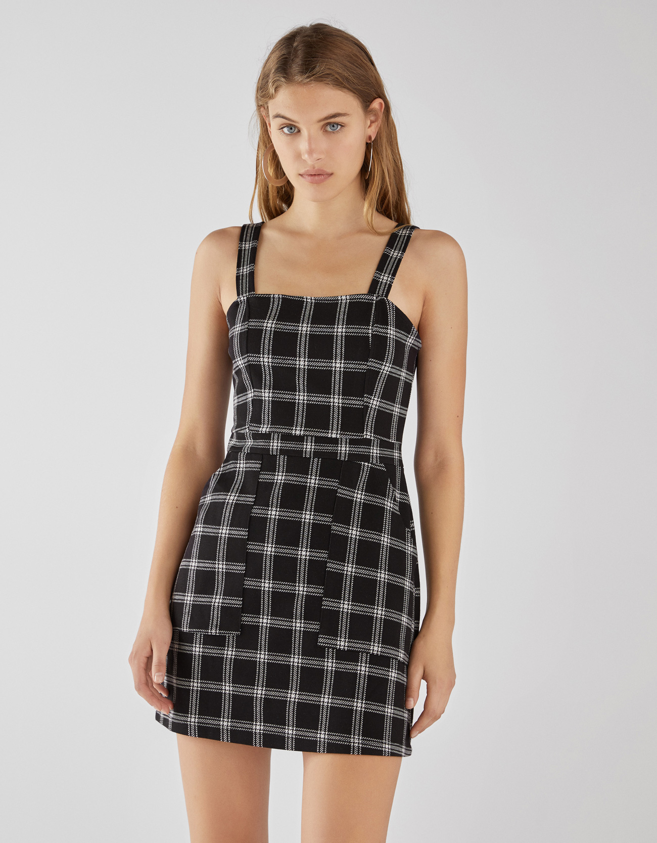 elegir original elige genuino venta caliente barato Vestido tipo peto de cuadros
