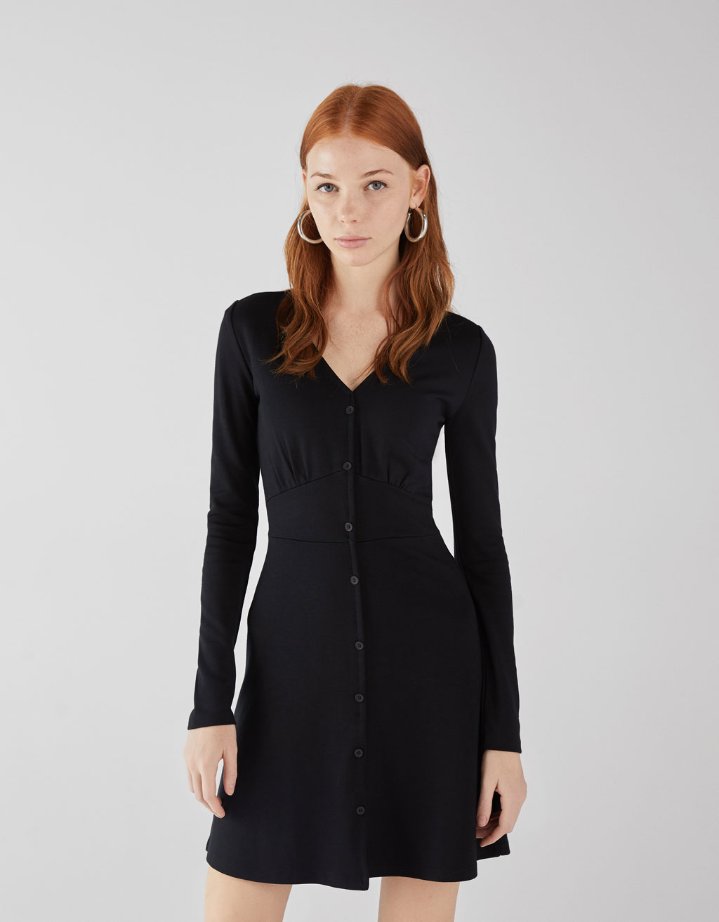 Ponte di Roma knit dress with buttons