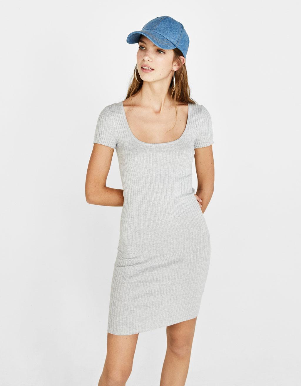 En La Vestidos Con Espalda Escote Cortos 0O8nwPkX