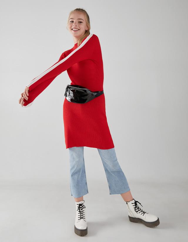 Kleid mit seitlichem Streifen