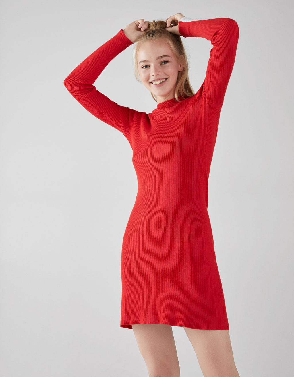 Dress with side bands