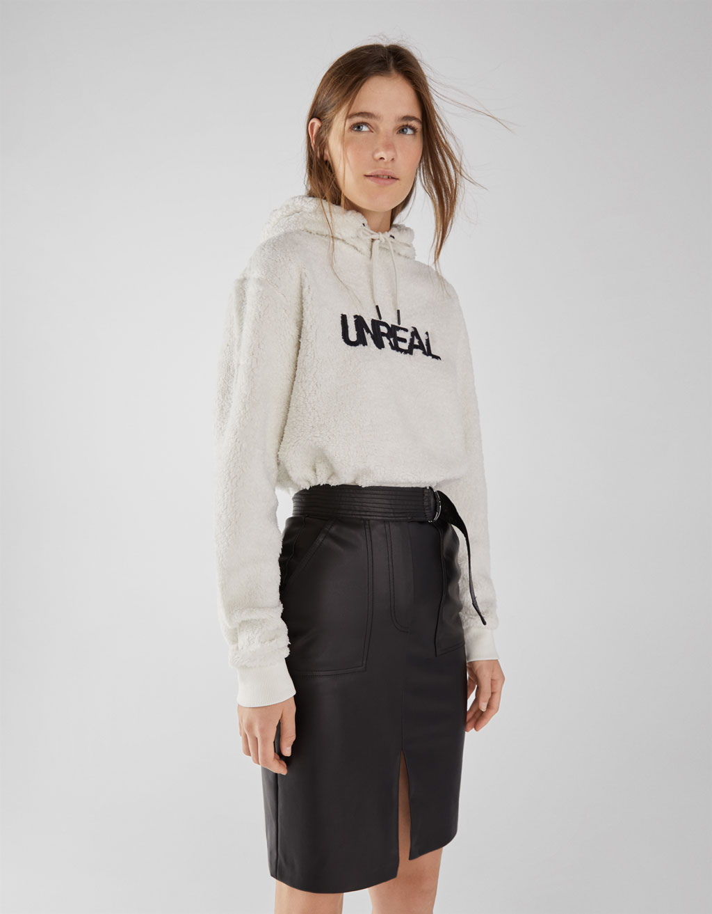 2ac79d5b1 Faux leather midi skirt - Best Sellers - Bershka Greece