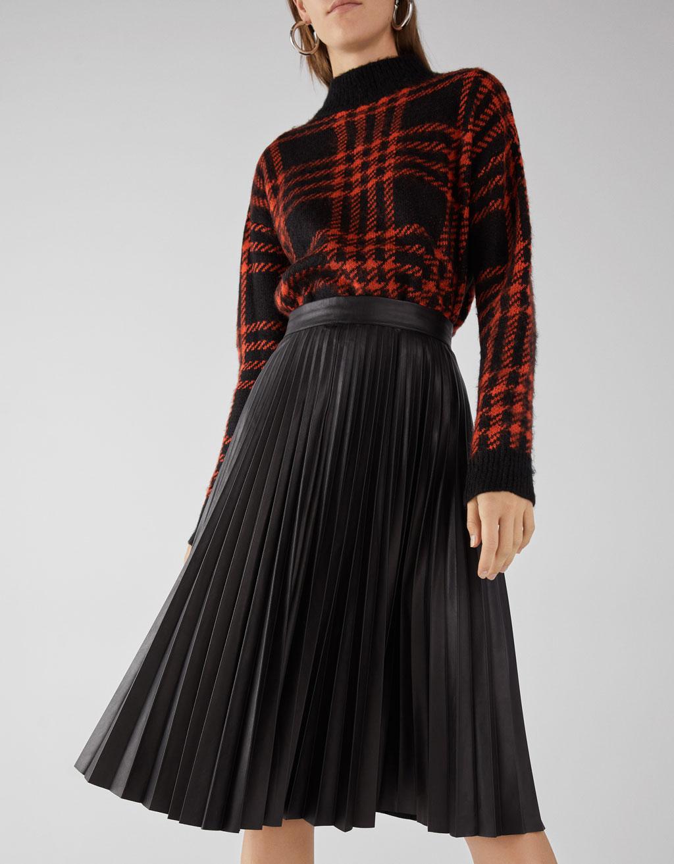 Plisovaná midi sukně