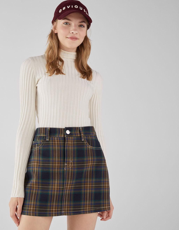 Falda mini de cuadros