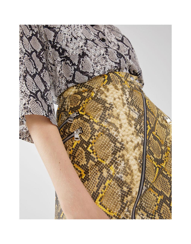 Sukňa s hadím vzorom