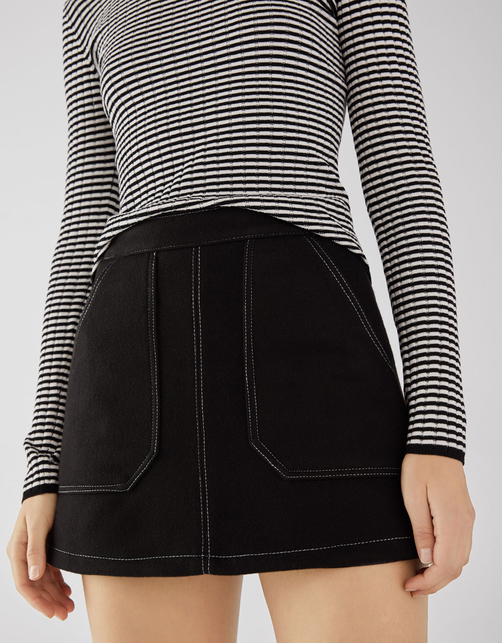 Woolly mini skirt