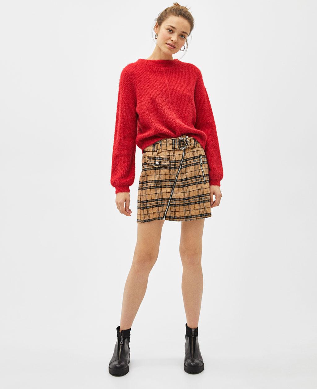 Check Mini Skirt by Bershka