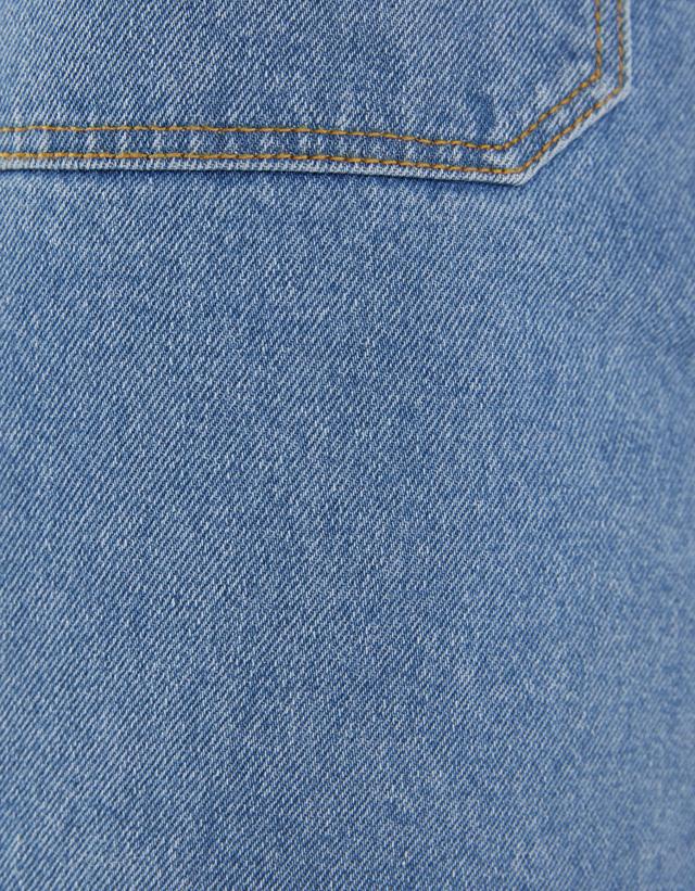 Midi-Jeansrock mit Knöpfen