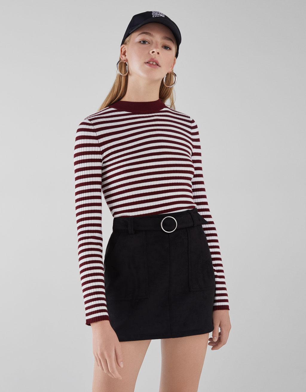 61eeec7041 Mini skirt with belt - CLOTHING - Bershka Cyprus