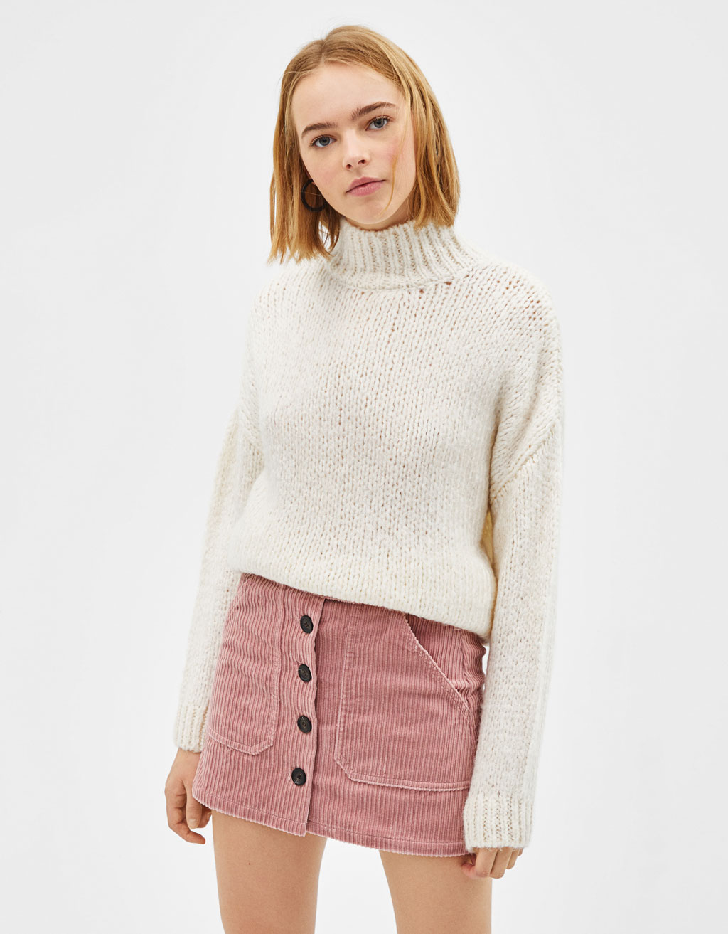 2b639112e1 Corduroy mini skirt - New - Bershka Georgia
