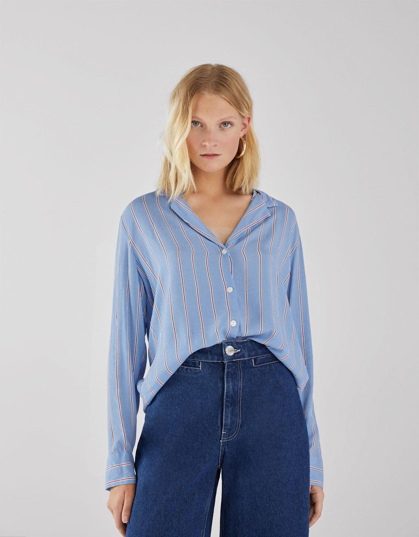 Koszula z lejącej tkaniny