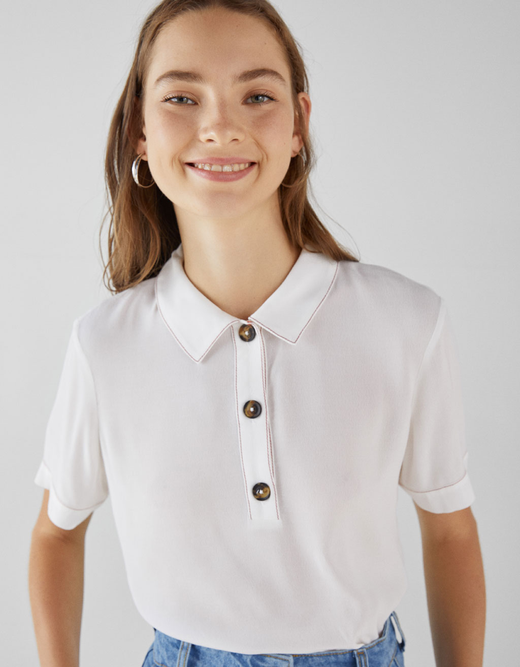 Polo T-shirt with contrasting trims