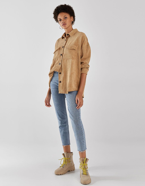 Velveta 'oversize' stila krekls