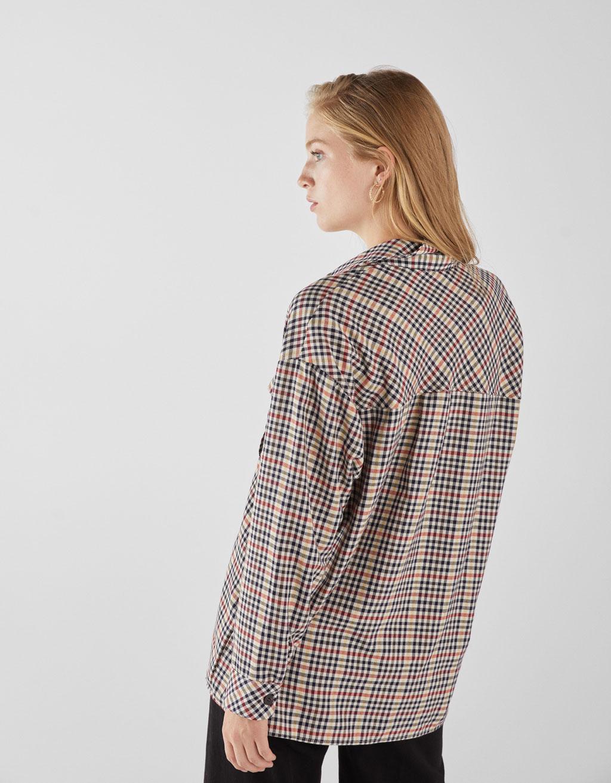 7950115b161cff Geruit overhemd met zak - AANBIEDINGEN TOT -30% - Bershka Netherlands