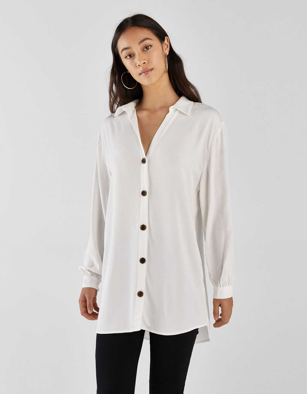 Camicia Oversize A Righe by Bershka