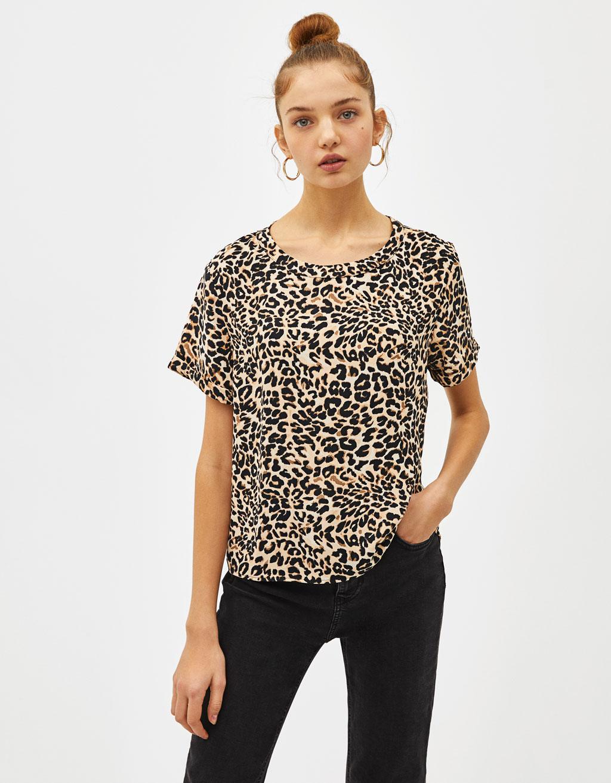 73440ad78648e0 Short sleeve blouse - Blouses - Bershka Honduras